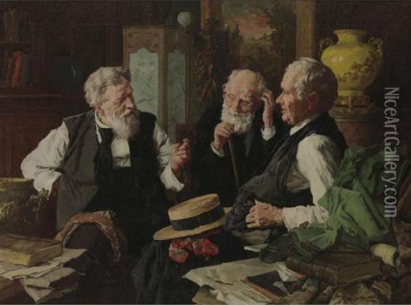 The Good Old Days Oil Painting - Louis Charles Moeller