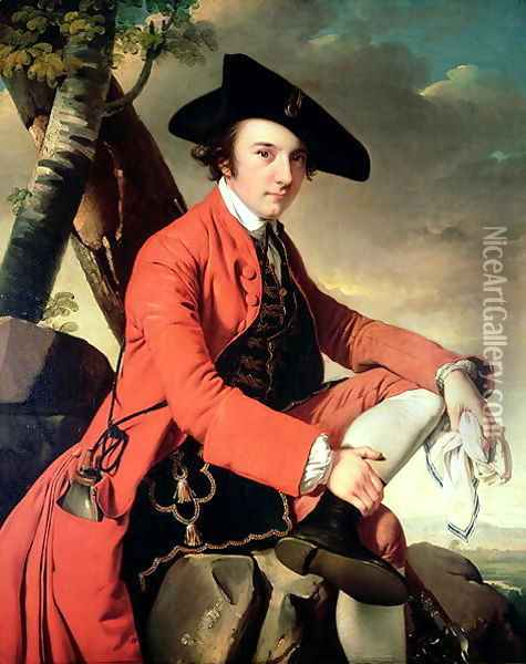 Portrait of Fleetwood Hesketh (1738-69) 1769 Oil Painting - Josepf Wright Of Derby