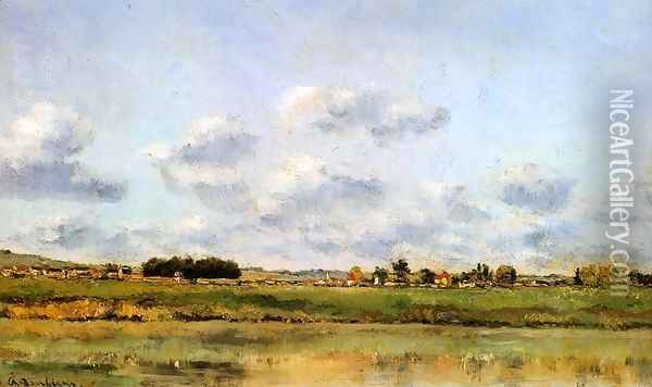 Banks Of The Loing Oil Painting - Charles-Francois Daubigny