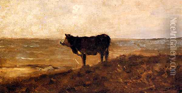 The Lone Cow Oil Painting - Charles-Francois Daubigny
