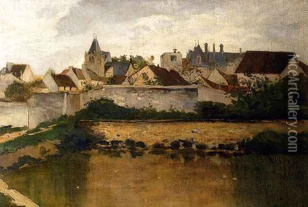 The Village, Auvers-sur-Oise Oil Painting - Charles-Francois Daubigny