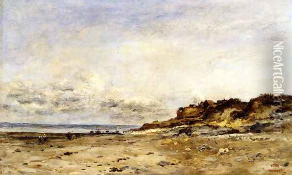 Low Tide At Villerville Oil Painting - Charles-Francois Daubigny