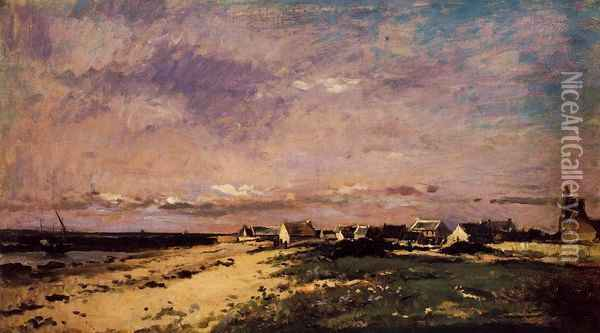 French Coastal Scene Oil Painting - Charles-Francois Daubigny