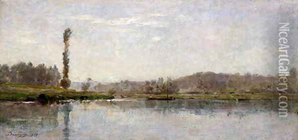 Morning on the Oise, Auvers Oil Painting - Charles-Francois Daubigny