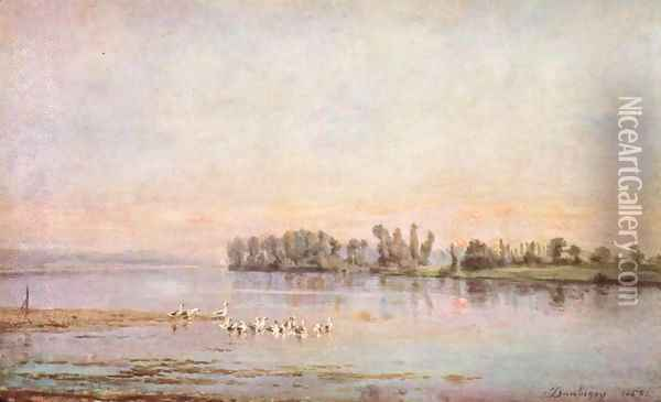 The morning Oil Painting - Charles-Francois Daubigny