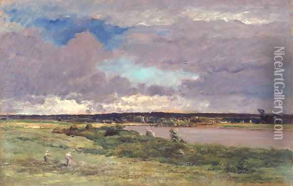 The Coming Storm: Early Spring, 1874 Oil Painting - Charles-Francois Daubigny
