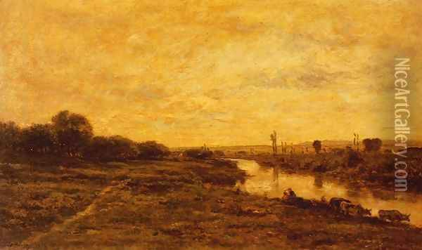 Untitled 2 Oil Painting - Charles-Francois Daubigny