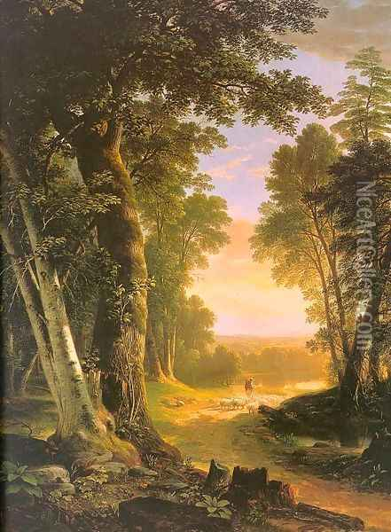 The Beeches 1845 Oil Painting - Asher Brown Durand