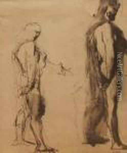 Classical Figure Studies Oil Painting - Gustave Moreau