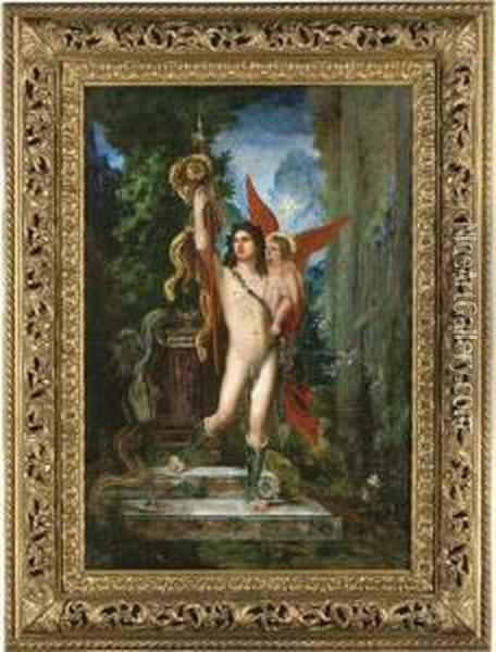 Jason And Eros Oil Painting - Gustave Moreau