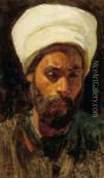 An Arab Oil Painting - Leopold Carl Muller