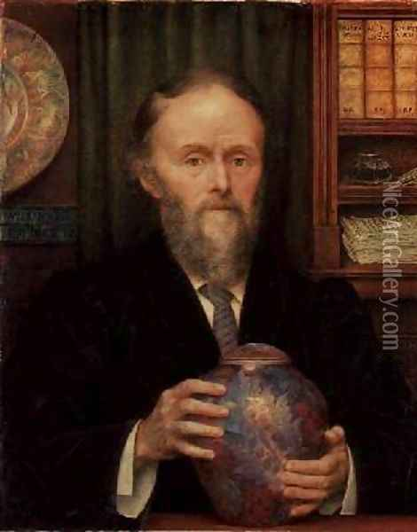 Portrait of William de Morgan 1839-1909 1909 Oil Painting - Evelyn Pickering De Morgan