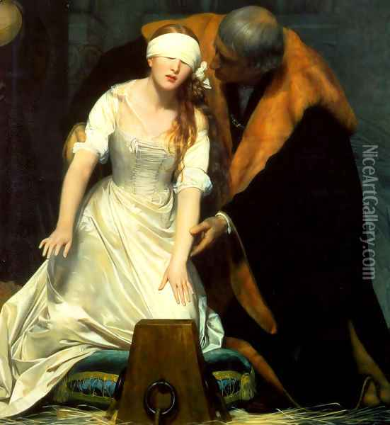 The Execution Of Lady Jane Grey 1834 Centre Oil Painting - Paul Delaroche