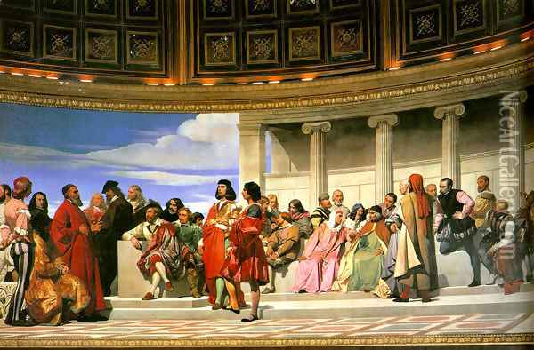 Hemicycle of the Ecole des Beaux-Arts I Oil Painting - Paul Delaroche