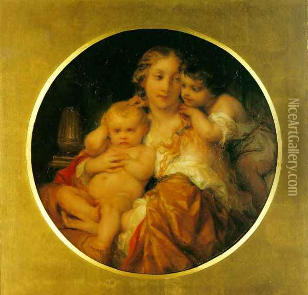 Mother and Child Oil Painting - Paul Delaroche