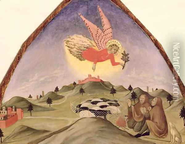 The Annunciation to the Shepherds Oil Painting - Sano Di Pietro
