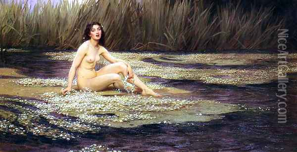 The Water Nymph Oil Painting - Herbert James Draper