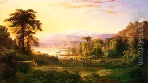 A Dream of Italy Oil Painting - Robert Scott Duncanson