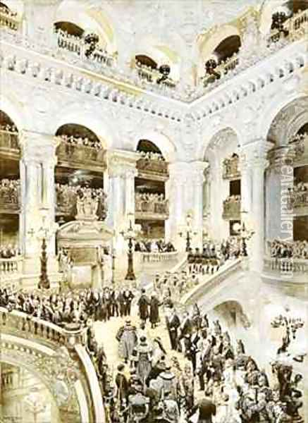 Inauguration of the Paris Opera House Oil Painting - Jean Baptiste Edouard Detaille