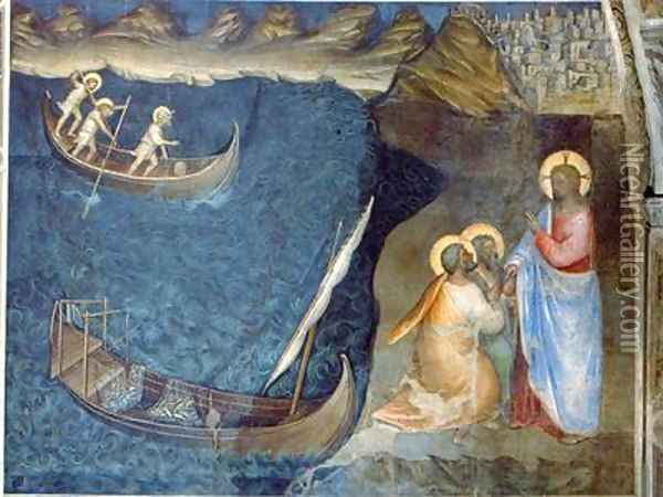 The Calling of Andrew and Peter Oil Painting - Giusto di Giovanni de' Menabuoi
