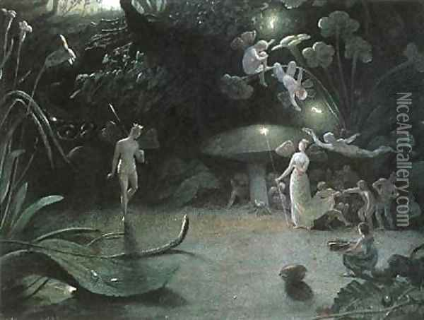 Oberon and Titania Oil Painting - Francis Danby