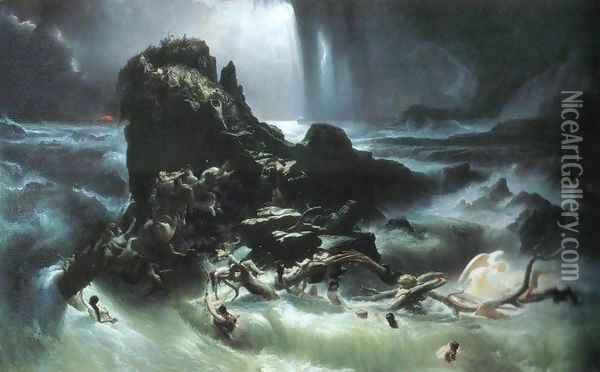 The Deluge Oil Painting - Francis Danby