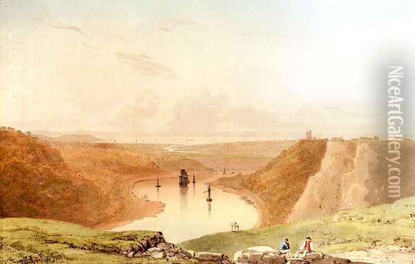The Avon Gorge From Clifton Down, Looking Towards The Severn Estuary Oil Painting - Francis Danby