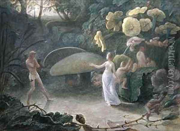 Oberon and Titania A Midsummer Nights Dream Oil Painting - Francis Danby