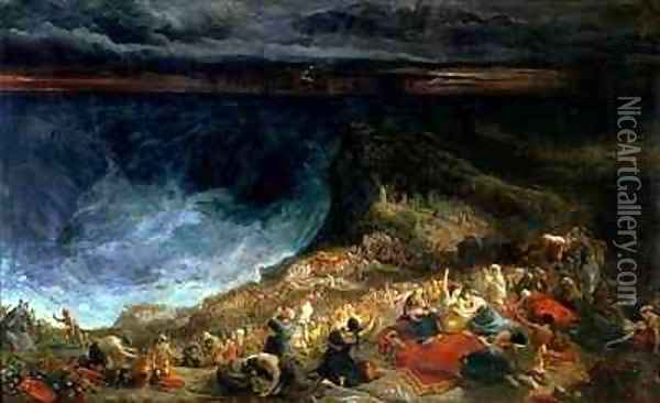 The Delivery of Israel Pharaoh and his Hosts overwhelmed in the Red Sea Oil Painting - Francis Danby