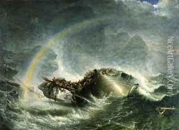 The Shipwreck Oil Painting - Francis Danby