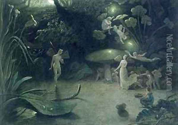 Scene from A Midsummer Nights Dream Oil Painting - Francis Danby