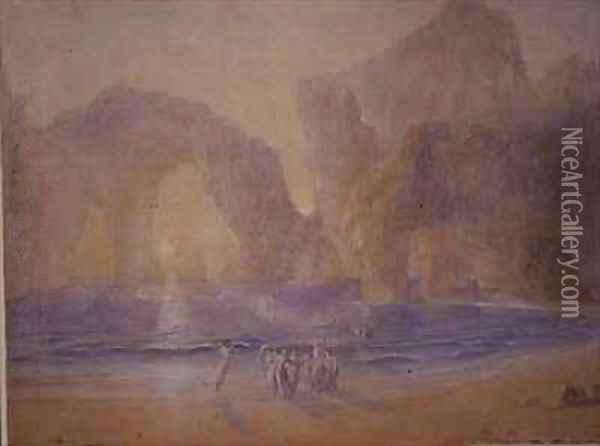 Fairies on the Shore Oil Painting - Francis Danby