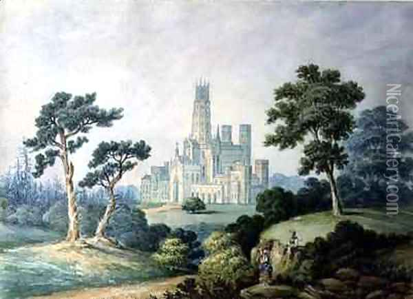 Fonthill Abbey Oil Painting - Francis Danby