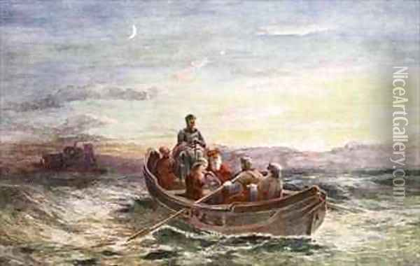 The escape of Mary Queen of Scots from Loch Leven Castle Oil Painting - Francis Danby