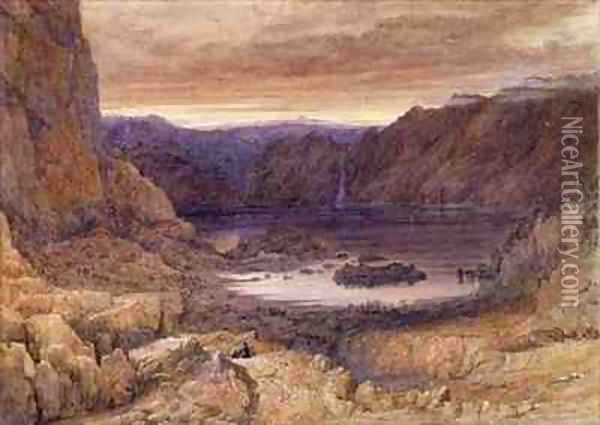 A Mountain Lake Norway Oil Painting - Francis Danby