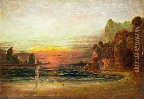 Study for Calypsos Grotto Oil Painting - Francis Danby
