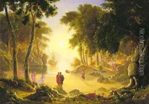 The Enchanted Island Oil Painting - Francis Danby