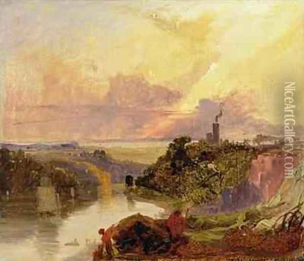 The Avon Gorge at Sunset Oil Painting - Francis Danby