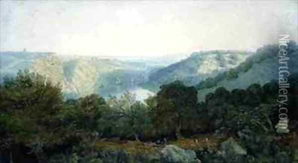The Avon Gorge with Clifton and the Hotwells Bristol Oil Painting - Francis Danby