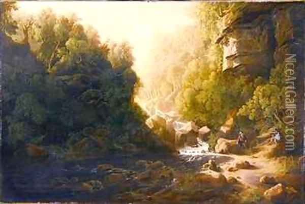 The Mountain Torrent Oil Painting - Francis Danby