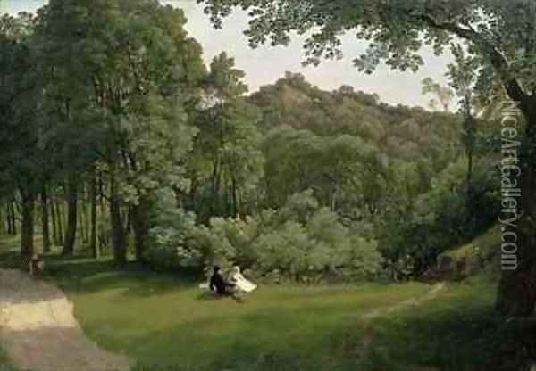 View of Blaise Castle Woods Oil Painting - Francis Danby