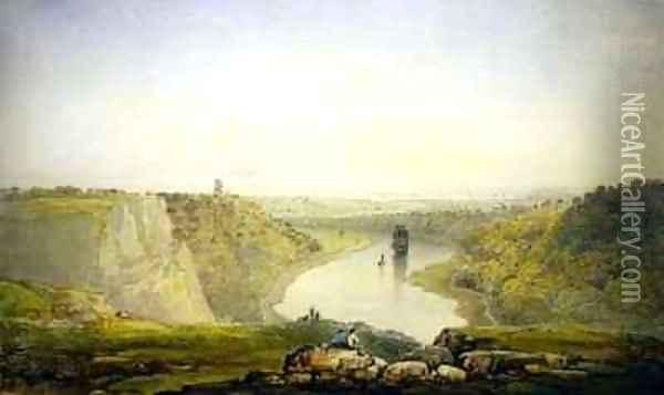 The Avon Gorge Oil Painting - Francis Danby