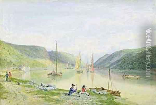 The Avon Gorge from beneath Sea Walls Oil Painting - Francis Danby