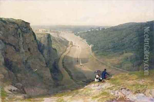The Avon Gorge looking over Clifton Oil Painting - Francis Danby