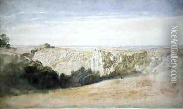 View near the Cheddar Gorge Oil Painting - Francis Danby