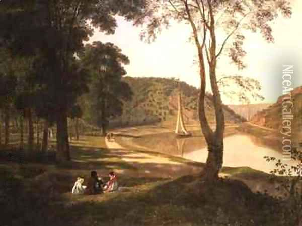 View of Avon Gorge Oil Painting - Francis Danby