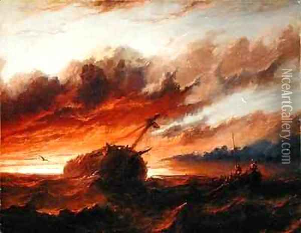 Shipwreck Oil Painting - Francis Danby