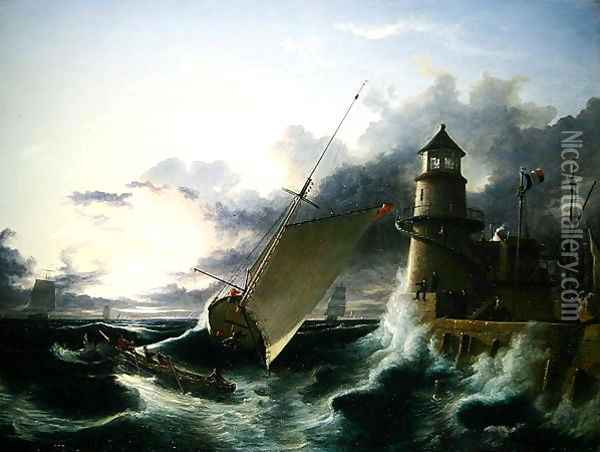 Shipwreck 2 Oil Painting - Francis Danby