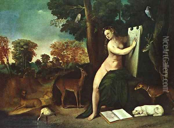 Circe and her Lovers in a Landscape 1514-16 Oil Painting - Dosso Dossi