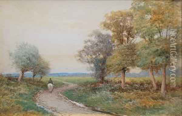 View Horse Lane, Malvern Oil Painting - John Bates Noel
